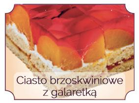 ciasto brzoskwiniowe z galaretk•