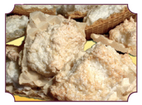 kokosanki na wafelku